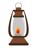 Lantern with flame , graphic Stock Photography