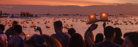 Lantern Floating Festival Stock Photos