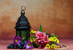A lantern with flowers Royalty Free Stock Photography
