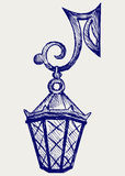 Lantern from the forged metal Royalty Free Stock Photography