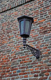 Lantern on the fortress wall. Old city lantern on the  wall Stock Photography