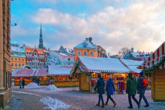 Lantern in front of the entrance to the Christmas market Stock Photography
