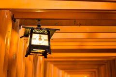 Lantern at Fushimi Inari Shrine, Kyoto Japan. Royalty Free Stock Photos