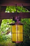 Lantern in a garden Stock Photo