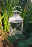 Lantern in the garden Stock Images