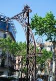 Lantern of Gracia street stock images