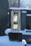 Lantern on the grave Stock Photos