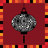 Lantern greeting card Royalty Free Stock Photos
