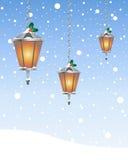 Lantern greeting card Royalty Free Stock Photos