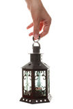 Lantern in a hand Royalty Free Stock Image