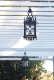 Lantern hanging in the arbor Royalty Free Stock Photo