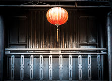 Lantern hanging in front of house, Vietnam. Stock Image