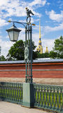Lantern on Hare Island. St. Petersburg, Russia.  Stock Photos