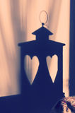 Lantern with hearts decoration Royalty Free Stock Image