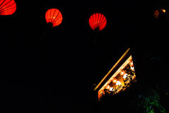 Lantern in Hoi An, Vietnam. Hoi An is located on the coast of the South China Sea. Is recognised as a World Heritage Site by UNESCO. Market at night with a lot Royalty Free Stock Photo