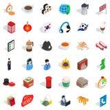 Lantern icons set, isometric style. Lantern icons set. Isometric style of 36 lantern vector icons for web isolated on white background Stock Photo