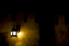 Lantern illuminating darkness Royalty Free Stock Image