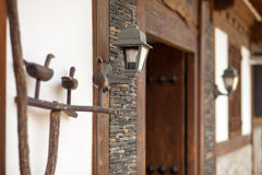 Lantern In Traditional Style At The Door In Seoul, Korea Royalty Free Stock Images