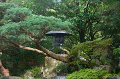 Lantern of Japanese garden in Kyoto Japan Stock Photography