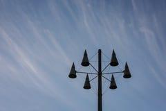 Lantern in Koblenz, Germany. Futuristic lanterns found in Koblenz, Germany Stock Image