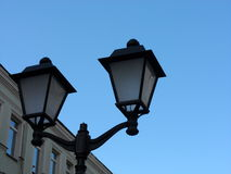 A lantern in Kuznetsky Most. One of the central streets of Moscow Royalty Free Stock Images