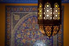 Lantern lamp. In a traditional islamic style Royalty Free Stock Photography