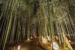Lantern and light festival in Arashiyama area Royalty Free Stock Photos