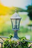 Lantern lighting in the park Royalty Free Stock Photos
