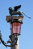 Lantern and lion on the Piazza San Marco, Italy Royalty Free Stock Photo