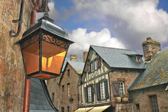 Lantern on the medieval streets Royalty Free Stock Image