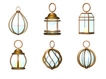 Lantern metal set Stock Photos