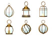 Lantern metal set Stock Photos