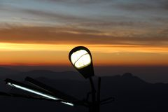 The lantern on the mountain Adam`s peak royalty free stock images