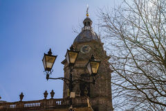 Lantern next to Birmingham Cathedral Royalty Free Stock Image