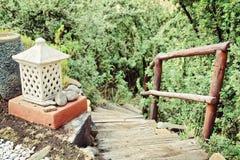 Free Lantern Next To Stairs - Retro Royalty Free Stock Images - 52123869