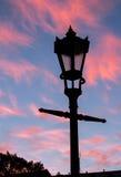 Lantern. At night in Capital of latvia, riga Royalty Free Stock Photography