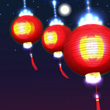Lantern night effect Royalty Free Stock Photography