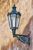 Lantern. Old lantern on dirty wall Stock Photos