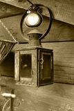 Lantern. In old hose in village Royalty Free Stock Photo