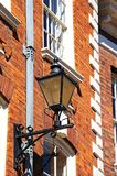 Lantern on outside of building, Shrewsbury. Royalty Free Stock Photos