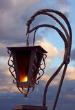 Lantern over cloudy sky Royalty Free Stock Photo