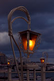 Lantern over cloudy sky Stock Photo