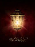 Lantern over dark eid al fitr background Royalty Free Stock Photo