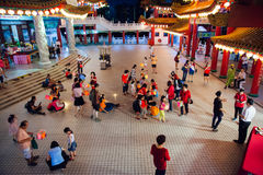 Lantern parade at Thean Hou Temple, Kuala Lumpur Royalty Free Stock Photo