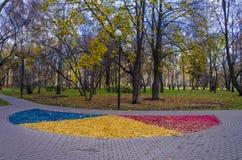 Autumn Park. Lantern in the Park in autumn Stock Photography
