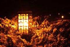 Lantern in park Stock Image