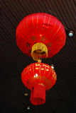 Lantern. Photo of chinese red paper lantern inside temple Stock Photography