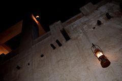 Antique Lantern in Sharjah. This photo has taken in Sharjah Heritage area at night Royalty Free Stock Photos