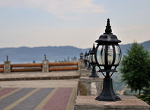 The lantern on the pillar. Stock Images