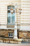 Lantern in Potocki Palace in Lviv, Ukraine stock image